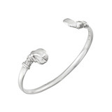 Medium Silver Hippo Bangle