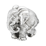 "Large Silver ""ZoZo"" Elephant Sculpture"