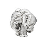 "Medium Silver ""ZoZo"" Elephant Sculpture"
