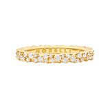 "Extra Small 18k Yellow Gold & Diamond ""Confetti"" Band Ring"
