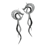 "Black & White Diamond ""Diamond Nouveau"" Earrings"
