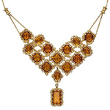 "18k Yellow Gold & Citrine ""Raja"" Necklace"