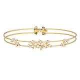 "18k Yellow Gold & Diamond ""Confetti"" Wire Bracelet"