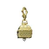 Large 18k Gold Granulated Square Meditation Bell