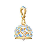 Large 18k Gold & Moonstone Meditation Bell