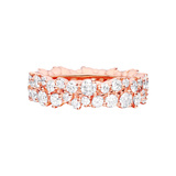 "18k Pink Gold & Diamond ""Confetti"" Band Ring"