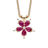 "Small Ruby & Diamond ""Stellanise"" Pendant"