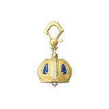"Small 18k Gold & Gemstone ""Raja"" Meditation Bell"