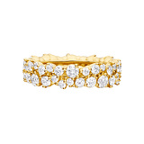 "18k Yellow Gold & Diamond ""Confetti"" Band Ring"