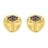 "22k Gold & Sapphire ""Mumus le Beau"" Earrings"