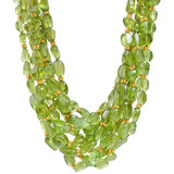Multi-Strand Peridot Bead Necklace