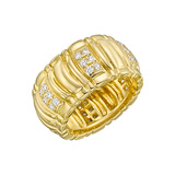 18k Gold & Diamond Wide Band Ring