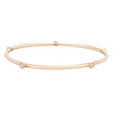 18k Pink Gold & Diamond Polished Bangle