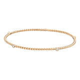 18k Pink Gold & Diamond Twistwire Bangle