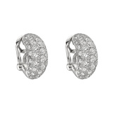 Platinum & Diamond Half Hoop Earrings
