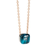 "Large London Blue Topaz ""Nudo"" Pendant Necklace"