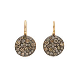 "Brown Diamond ""Sabbia"" Drop Earrings"