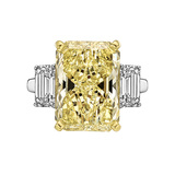 7.70 Carat Fancy Brownish Yellow Diamond Ring