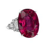 20.34 Carat Rubellite & Diamond Ring
