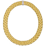 "18k Yellow Gold ""Appassionata"" Collar Necklace with Diamond Clasp"