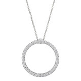 "Diamond ""Circle of Life"" Pendant (~0.25 ct tw)"