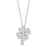 "Diamond ""Tiny Treasures"" Lucky Clover Pendant"
