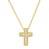 "18k Yellow Gold & Diamond ""New Barocco"" Cross Pendant"