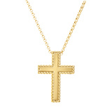 "18k Yellow Gold ""New Barocco"" Cross Pendant"