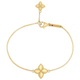 "18k Yellow Gold ""Princess Flower"" Charm Bracelet"