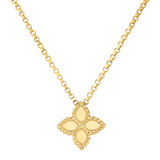 "Small 18k Yellow Gold ""Princess Flower"" Pendant"
