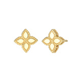 "Small 18k Yellow Gold ""Princess Flower"" Stud Earrings"