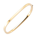 18k Yellow Gold Square Bangle Bracelet