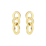 18k Yellow Gold Triple Oval Link Drop Earrings
