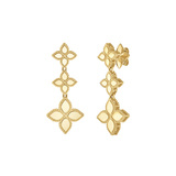"18k Yellow Gold ""Princess Flower"" Drop Earrings"