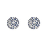 Pavé Rose-Cut Diamond Domed Stud Earrings
