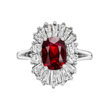 Ruby & Diamond 'Ballerina' Ring
