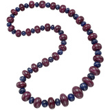 Ruby & Sapphire Bead Necklace