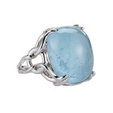 "18k White Gold & Blue Topaz ""Capri"" Ring"
