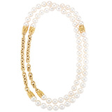 "18k Gold & Pearl ""Canton"" Long Necklace"