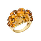 18k Gold & Cabochon Citrine Ring