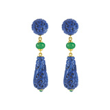 "Lapis & Chrysoprase ""Canton"" Drop Earrings"