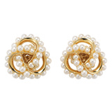 18k Gold & Pearl Triple Wrap Earrings