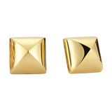 "18k Yellow Gold ""Pyramid"" Earrings"
