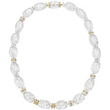 "Rock Crystal ""Torchon"" Bead Necklace"