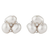 """Triple Pearl"" Cluster Earrings"