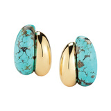 "18k Gold & Turquoise ""Silhouette"" Earrings"