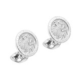Silver St. Christopher Cufflinks