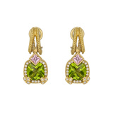 Stambolian Peridot & Pink Sapphire Drop Earrings