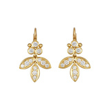 "18k Yellow Gold & Diamond ""Foglia"" Drop Earrings"