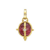 18k Gold, Pink Tourmaline & Diamond Locket